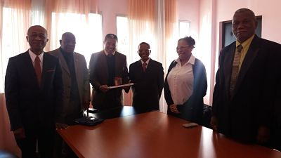 Visite de Courtoisie du Secrétaire National du Parti AREMA, au Président du CFM (Ampefiloha 24 Mai 2018)
